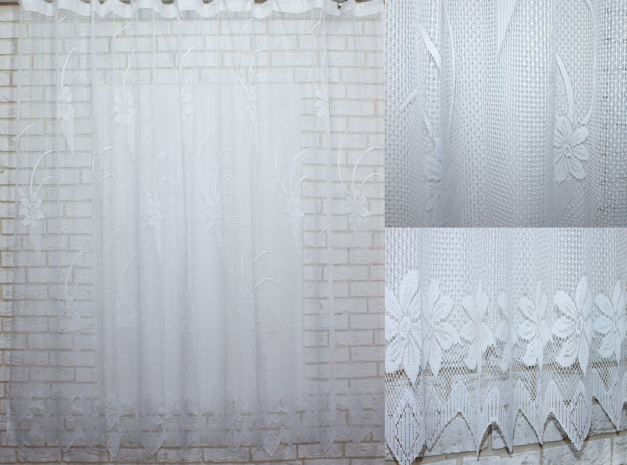 Тюль сетка, плотная, для кухни, балкона. Высота 2м, Код 519т