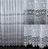 """Нарядная тюль, гардина из ткани  """"Кристалон"""". Высота 2,7м, Код 554т"""