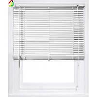 Жалюзі пластикові 550x1300 мм Білі, ламель 25мм, жалюзі для вікон, жалюзі для офісу, для квартири, будинку, дачі