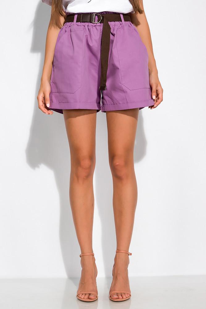 Модные женские шорты 153P127 (Лавандовый)
