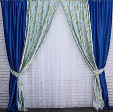 Комбинированные шторы из ткани блекаут. Код 014дк (259-315) (1,8*2,75) 10-066, фото 3