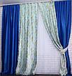 Комбинированные шторы из ткани блекаут. Код 014дк (259-315) (1,8*2,75) 10-066, фото 2