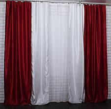 Комбинированные шторы из ткани блекаут.Код 014дк(400-409)(1,6*2,9) 10-089, фото 3
