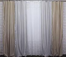 Комбинированные шторы из ткани блекаут.Код 014дк(415-414)(1,5*3м) 10-091, фото 3