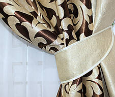 Комбинированные шторы из ткани блекаут. Код 014дк  143-044(А) (1.60*2.70м.) 10-100, фото 2