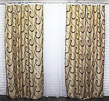 """Комплект готовых штор блэкаут ,коллекция """"Молли""""  451ш  (Б) (1*2,5) 39-062, фото 3"""