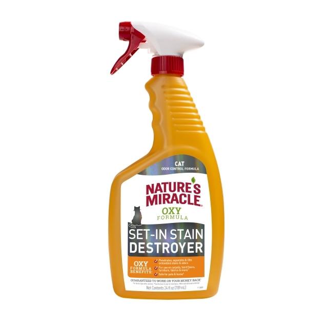 Знищувач плям і запахів для кішок 709 мл спрей Oxy Formula 8in1 помаранч Nature's Miracle