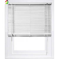 Жалюзі пластикові 600x1300 мм Білі, ламель 25мм, жалюзі для вікон, жалюзі для офісу, для квартири, будинку, дачі
