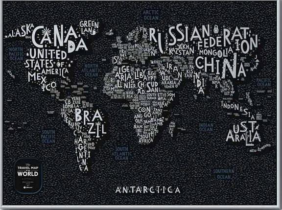 Скретч Карта Мира LETTERS World, фото 2