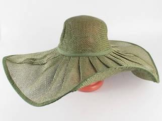 Соломенная шляпа Льен 57 см зеленая