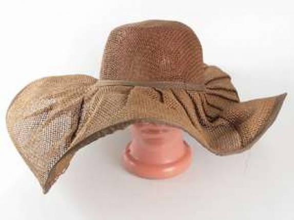 Соломенная шляпа Лен 57 см коричневая, фото 2