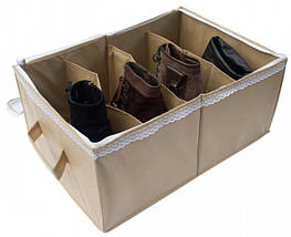 Органайзер для обуви на 4 пар (бежевый), фото 3