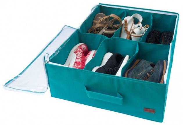 Органайзер для обуви на 6 пар (лазурный), фото 2