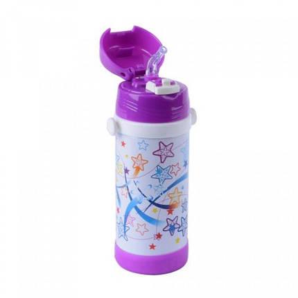 Термос детский с трубочкой Звезды, фото 2