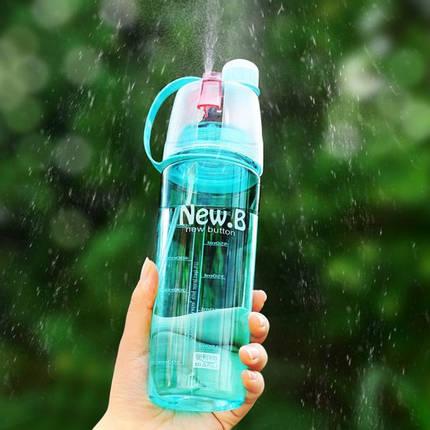 Спортивная бутылка для воды с распылителем New B blue, фото 2