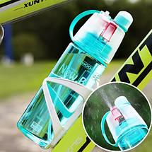 Спортивная бутылка для воды с распылителем New B blue, фото 3
