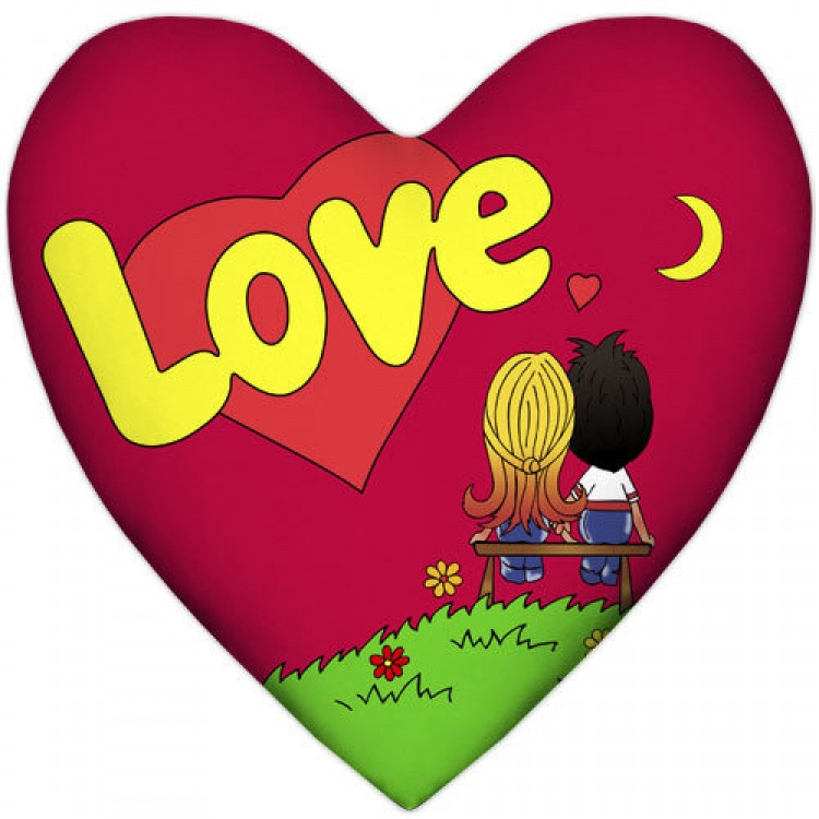 Подушка Love is сердце Red
