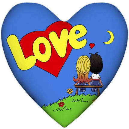 Подушка Love is сердце, фото 2