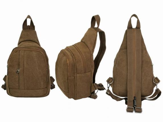 Рюкзак Холщовый Ruggeri Brown, фото 2