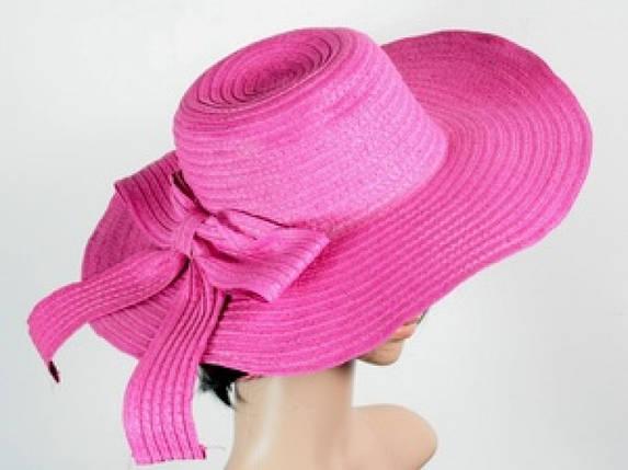 Соломенная шляпа Рестлин 42 см розовая, фото 2