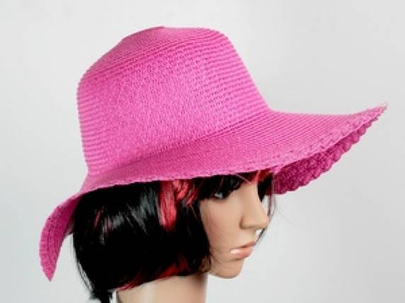 Соломенная шляпа Рестлин 40 см розовая, фото 2