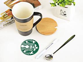Керамическая чашка Starbucks с маркером, фото 2