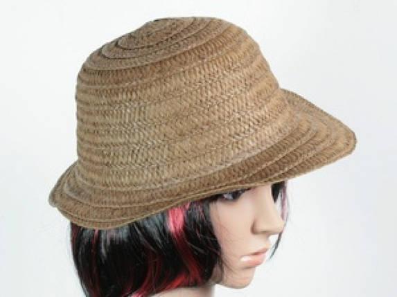 Соломенная шляпа Бебе 29 см темно-коричневая, фото 2