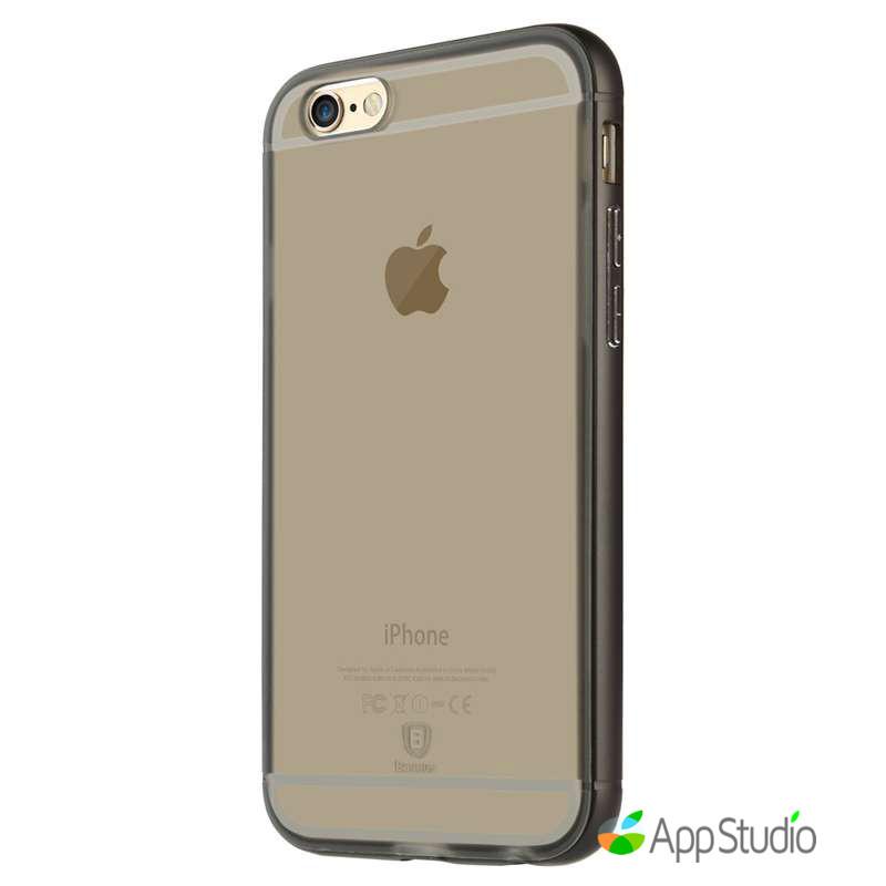 Чехол Baseus Golden Series For iPhone 6/6S Transparent Black