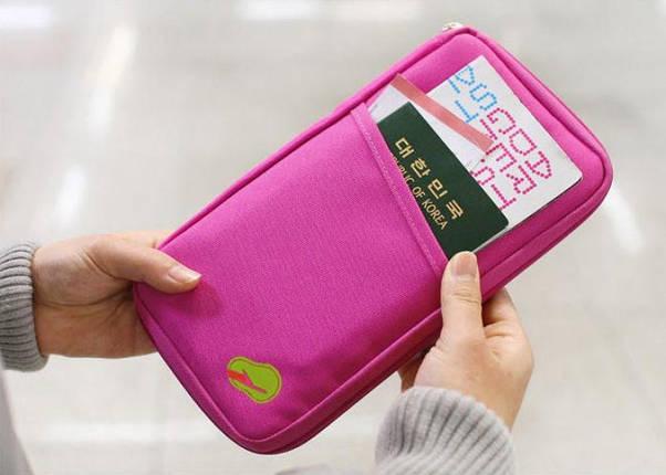 Органайзер для путешествий дорожный авиа розовый, фото 2