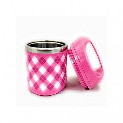 Ланч бокс 630мл пищевой 1 секция Розовый, фото 2