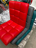Кресло Augusto ЭК пурпурный 1010 Modern Office, на хромированной крестовине с колесами, с регулировкой высоты, фото 7