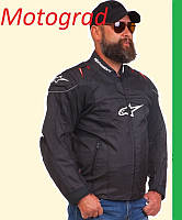 Мото куртка текстиль Альпинстар c красными вставками размеры M L XL XXL
