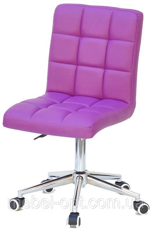 Кресло Augusto ЭК пурпурный 1010 Modern Office, на хромированной крестовине с колесами, с регулировкой высоты