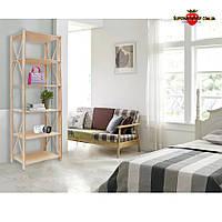 Стеллаж деревянный Прованс-640 Размер: 1910х780х400мм, этажерка, стеллаж для книг, для игрушек, стелаж