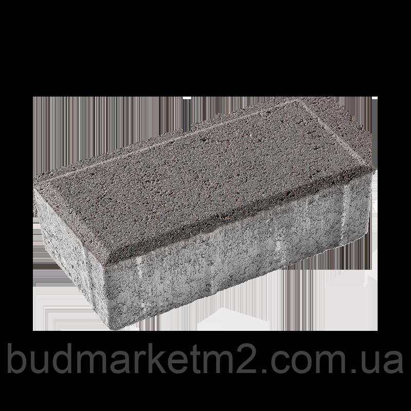 Тротуарная плитка брусчатка Ковальская 20-10-60 серый