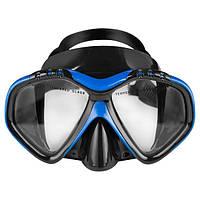 Маска для подводного плавания Dolvor Поликарбонат Обтюратор PVC Закаленное стекло Черно-синий (СМИ M1907)
