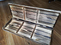 Кейс (сундук) деревянный для шампуров 780х25х12 см, обожженный