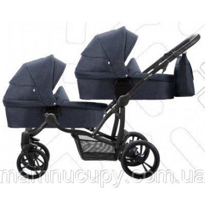 Дитяча універсальна коляска 2 в 1 для двійні Bebetto B 42 Simply 03 Синій