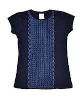 """Блузка школьная на девочку с коротким рукавом (140-158 см) """"Bembi"""" LM-775"""