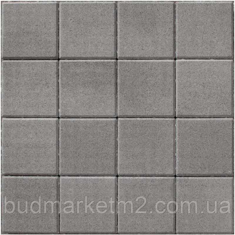 Тротуарная плитка брусчатка Ковальская 20-20-60 серый