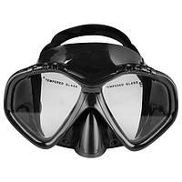 Маска для подводного плавания Dolvor Поликарбонат Обтюратор PVC Закаленное стекло Черный (СМИ M1907)