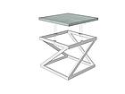 Стол журнальный Бент (серия Loft) ТМ Металл-Дизайн, фото 3