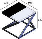 Стол журнальный Бент (серия Loft) ТМ Металл-Дизайн, фото 2