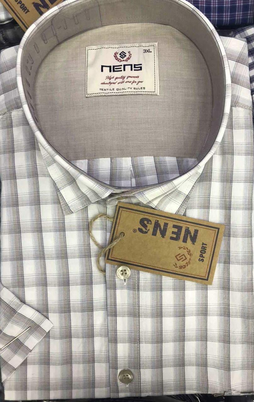 Батальна коттоновая сорочка NENS
