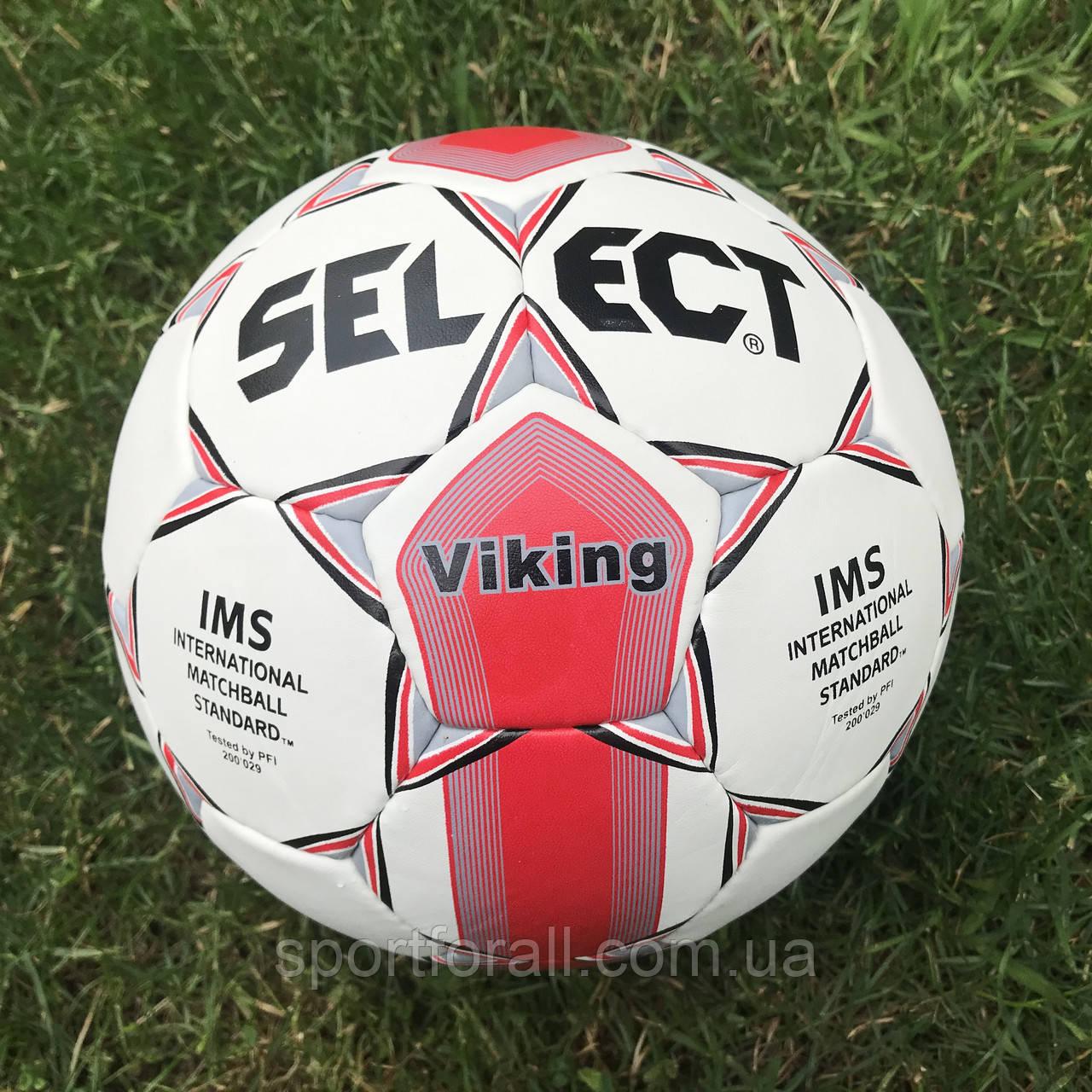 М'яч футбольний SELECT VIKING IMS №5 200-029 (червоний)