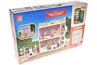 Меблі для ляльок  FDE8713 кухня+спальня з флок.зайчиком і аксесуарами.кор.42*9,5*28