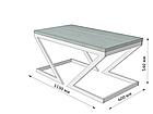 Стіл журнальний Зетта (серія Loft) ТМ Метал-Дизайн, фото 4