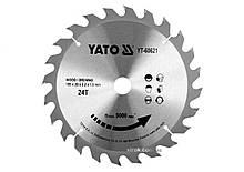 Диск пильный победитовый по дереву : 185x20x2.2x1.5 мм, 24 зубца, R. P. M до 9500 1/мин YaTo YT-60621