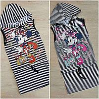 """Детское платье для девочки в полоску """"Микки"""" размер 2-7 лет, цвет уточняйте при заказе (микс рисунков)"""