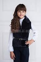 Меховая жилетка детская  001  (К.О.Н.)